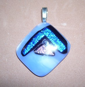 Blue fused pendant